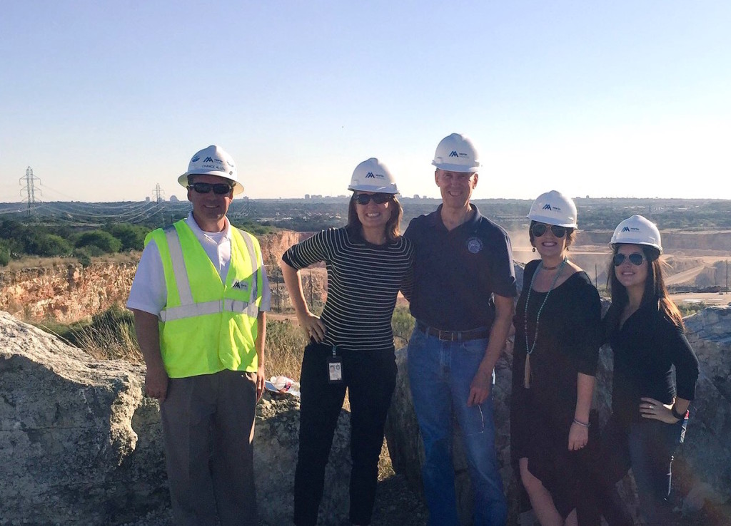 Left to right: Chance Allen, Rebecca Podowski, Councilman Mike Gallagher (D10), Emilie Christian and Lauren Sides gather at Beckmann Quarry.
